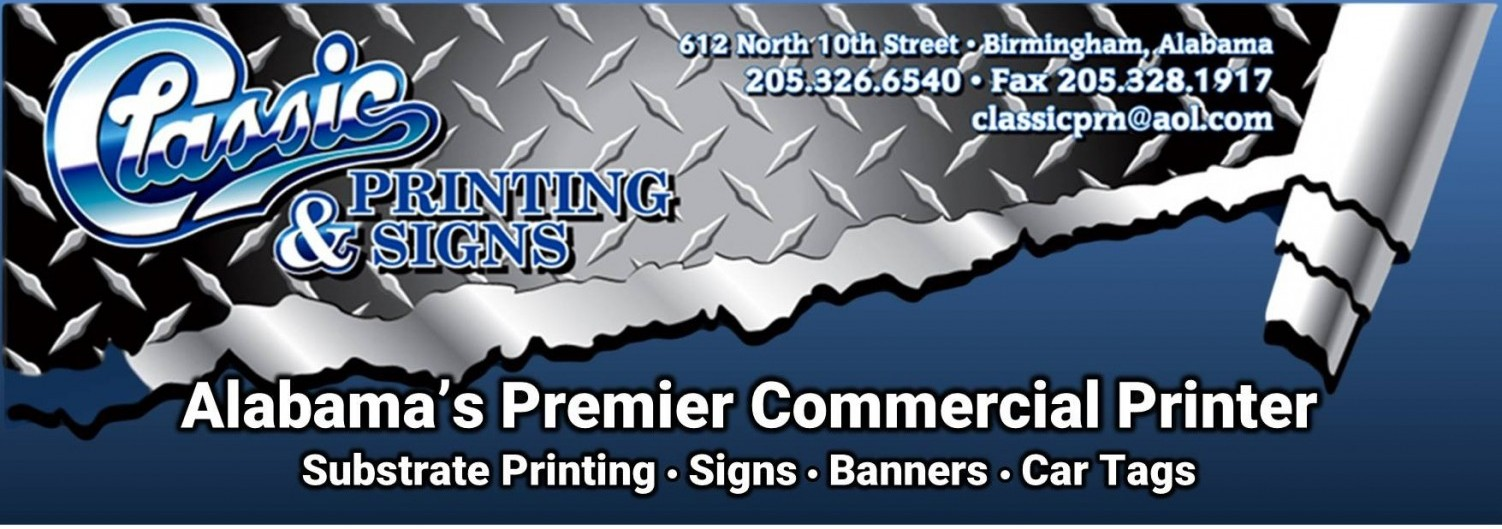 Classic Printing And Signs Birmingham Al Substrate